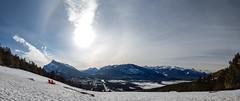 Banff Solar Halo (rsgbot) Tags: banff canadianrockies norquay snow winter halo pano panorama ski skiing solar solarhalo banffnationalpark alberta canada canon canoneos5dmarkiii february 2016 ef50mmf12lusm banffsolarhalo