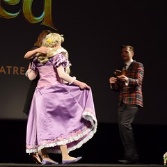Tangled at the El Capitan Theatre - 2016-02-20 - Stage Before Movie - Director Nathan Greno and Actress Mandy Moore - Q & A With Audience - #6 of 10 (drj1828) Tags: movie us stage hollywood singer actress cosplayer director rapunzel viewing tangled mandymoore 2016 elcapitantheatre preliminaries nathangreno