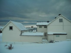 Today, it's grey and a bit windy (GeirB,) Tags: winter sky snow clouds grey march vinter nikon arctic sn finnmark vads p7000 varanger sny vadsoe snjo 70north