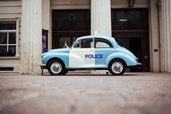 Vintage Police Car outside Brighton Town Hall (lomokev) Tags: england car vintage brighton unitedkingdom low police samsung ground gb groundlevel ratseyeview brightontownhall nx1 samsungnx1 file:name=160319nx14462