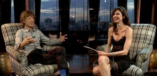 """""""Não tenho plano de parar"""", diz Mick Jagger em entrevista a Luciana Gimenez"""