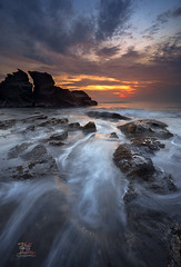 Walking Through (Jose Hamra Images) Tags: sunset bali sunrise indonesia landscape tanahlot canggu karangbolong melasti melastibeach