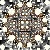 Bound by Steel (Ross Hilbert) Tags: art chaos abstractart digitalart mandala computerart fractal escher tiling generativeart hyperbolic mathart fractalart algorithmicart hyperbolicgeometry orbittrap henripoincare fractalsciencekit poincaredisk fractalgenerator circleinversion hyperbolictiling fractalsoftware fractalapplication