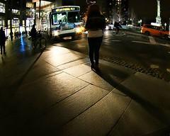 Bus headlights on a rainy NYC... (kristymartinphotography) Tags: nightphotography shadows pedestrians mta columbuscircle citybus canonshots 5boros rainphotography teamcanon canon70d uploaded:by=flickstagram instagram:venuename=columbuscircle canonbringit instagram:venue=504878624 instagram:photo=11812770219011732712013464107