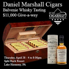 Get ready for the best #CigarFest kick off events ever. The #DanielMarshall #Balvenie whisky $11,000 giveaway. #cigars #cigarsnob #cigarsmoker #cigarlifestyle #whiskey #whiskeylover #cigarpairings (thecigarphotographer) Tags: cigars instagram ifttt