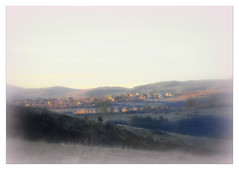 (Stella VM) Tags: winter light sunset landscape countryside soft village hill softness bulgaria
