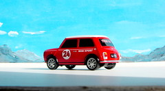 Canned Heat Radio Controlled Mini Cooper By Tyco R/C Mattel Incorporated 1998 : Diorama Boneville Salt Flats - 9 Of 21 (Kelvin64) Tags: by radio salt mini flats cooper heat canned 1998 rc mattel diorama incorporated controlled tyco boneville