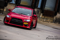 Wolfie-X Chihiro (joshualvega) Tags: pictures red work fun photography japanese photoshoot fast evolution automotive turbo evox lancer lowered mitsubishi awd jdm evo turbocharged brembo boost boosted 4g63 lancerevo automotivephotography ladydriven evo10 workwheels 4b11 workwheelsjapan