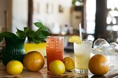 Are you thirsty? (childishToy*) Tags: summer film fruit photography cafe lemon nikon kodak lemonade drinks grapefruit soda fm2 jeonju grapefruitade