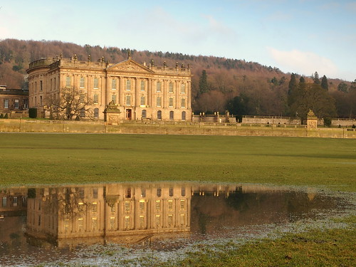 Reflection of Chatsworth house