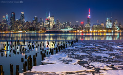 NYC in Winter (RyanKirschnerImages) Tags: nyc newyorkcity ny newyork skyline buildings reflections lights cityscape skyscrapers manhattan