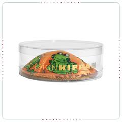 Kippah for Passover (DesignKippah) Tags: peach frogs jewish yarmulke passover kippah kippot yamaka