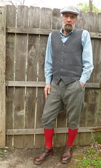 4-22-2016 Today's Clothes (Michael A2012) Tags: boots knickers style mens vest marten waistcoat donegal tweed handwoven breeches