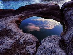 Heartstone (Diego Zarulli) Tags: sunset sea italy rock stone relax tramonto mare calm napoli naples rocce gaiola quiete