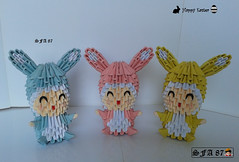 Kids with bunny suit Origami 3d (Samuel Sfa87) Tags: pet rabbit bunny bunnies animal kids paper easter happy costume 3d kid origami child with arte handmade bambini crafts craft suit boa pscoa sfa fantasia criana rabbits feliz crianas childs coelho coelhos animale carta artisan papercraft pasqua pascoa bambina bambino in coelhinho cartone arteempapel coelhinhos blockfolding origami3d sfaorigami sfa87 arteconlacarta