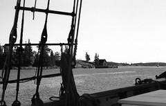 Sch Roseway Fox Island Thorofare 8-23-1988mrf (ironmike9) Tags: ocean sea water island coast boat seaside ship maine vessel atlantic wharf sail schooner rigging seacoast northhaven roseway foxislandthorofare