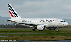 F-GUGR A318 Glasgow March 2016 (pmccann54) Tags: airfrance airbusa318 f0gugr