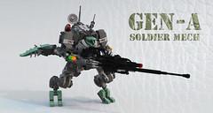 Gen-A Soldier Mech (Garry_rocks) Tags: lego crocodile mecha hardsuit