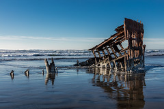 2016-01-10 - Peter Iredale Shipwreck-31 (www.bazpics.com) Tags: ocean sea usa beach water oregon america skeleton sand ship pacific or wave peter shipwreck frame hull wreck iredale