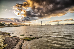 And the Road Bridge.. (blairmchattiephotography) Tags: road bridge sunset sea water clouds landscape scotland nikon crossing outdoor tokina forth handheld firth d7000