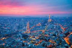 Paris (Damien Borel) Tags: light sunset paris clouds eiffeltower bluehour pinksky montparnassetower boblastic damienborel