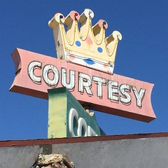 Courtesy Coffee Shop (jericl cat) Tags: coffee sign shop vintage neon signage crown blythe roadside googie courtesy