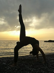 Backbend variation (Claudia Olla) Tags: sardegna sunset yoga sardinia iglesias nebida yogini backbend portubanda yogaeverywhere