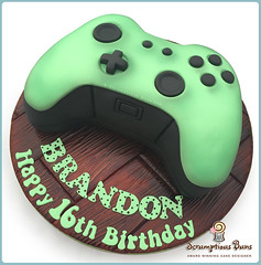 X-Box One Controller (Scrumptious Buns (Samantha)) Tags: birthday wood black green cake one wooden drum board norfolk xbox 360 novelty norwich lime controller scrumptiousbuns wpcelebrationcakes