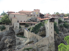 Stairs up to a monastery - Meteora (Monceau) Tags: stairs greece monastery meteora