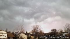 April 10, 2016 - Lightning pops in Thornton. (ThorntonWeather.com)