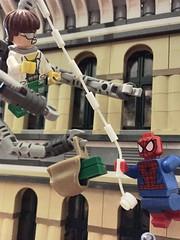 Doctor Octopus vs. Spider-Man (njgiants73) Tags: new york man comics spider lego spiderman super doctor hero octopus vs superheroes marvel doc versus moc ock