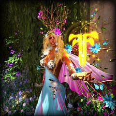 Fantasy Faire (scarlettelizabet) Tags: flowers butterfly spring wings truth sprite pixie elf fairy lara brownie crown puck magical imp ff utopia fae leprechaun danaus astralia fantasyfaire flowersfairy sabyclary astraliadanausspring
