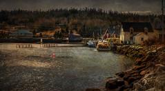 Along the Coast (Explore) (Carolyn Little) Tags: ocean sea water novascotia explore textures fishingboats