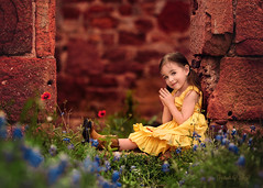 Southern Belle (Portraits by Suzy) Tags: las vegas blue light red urban blur color brick green love nature childhood yellow by composition portraits canon warm texas photographer child natural bokeh suzy story framing mead primary 6d bonnets 200mm pontotoc 200l