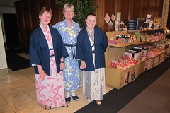 Penny, Nancy, Leena in Yukata (pennykaplan) Tags: nancy penny yukata hakone leena