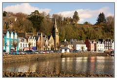 Tobermory Harbour, Isle of Mull,Scotland (Audrey A Jackson) Tags: trees sky colour wall clouds buildings reflections scotland harbour isleofmull tobermory canon60d