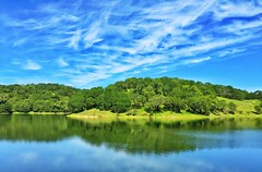 Reflections on a lake (harminder dhesi photography) Tags: california park blue trees sky lake green nature water clouds reflections landscape spring view hiking sonoma hills bayarea sonomacounty norcal s3 winecountry glenellen vsco iphoneography snapseed vscocam