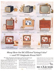 RCA Victor televisions, 1957 ad (Tom Simpson) Tags: television vintage advertising tv ad victor advertisement 1950s 1957 rca rcavictor vintagead