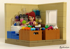 Sorting bricks (1982redhead) Tags: lego fig interior sig vignette sorting eurobricks