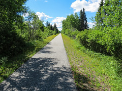 This Way to St-Jerome (votsek) Tags: ca canada forest landscape trail qubec laurentians 2015 railbed rivirerouge
