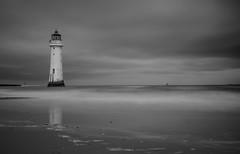 Perchrock lighthouse. Long exposure (charliefarley231) Tags: longexposure lighthouse blackwhite mersey newbrighton omdem1 mzuiko25mm