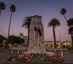 Lest We Forget (lizcaldwell72) Tags: trees light sunset newzealand sky napier hawkesbay lestweforget anzacday inthegoingdownofthesun