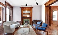 Brooklyn New York 1899 brownstone Victoiran woodwork (techpro12) Tags: newyork window brooklyn woodwork interior room parkslope historic livingroom ornate partition pediment victoiran