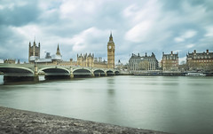 Palace of Westminster, London (Ludo_Jacobs) Tags: longexposure london westminster thames river parliament bigben