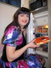 King's Day (Paula Satijn) Tags: blue girl cake shiny dress silk tgirl transvestite pastry satin tompouce gulr