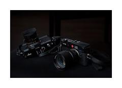 black is beautiful (Istvan Penzes) Tags: flash handheld elinchrom leicam9 nikond3x penzes nikonnikkorafd85mm14 leicampblackpaint quadrahs litemotiv120cmsoftbox elinchrom400elb