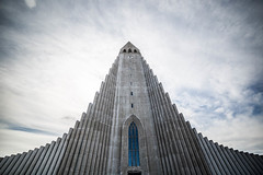 Hallgrmskirkja (MaxSkyMax) Tags: clock church window clouds canon iceland high europe cathedral belltower f28 14mm samyang