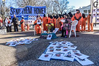 Witness Against Torture's Homecoming Ritual at the White House on January 11th, 2016