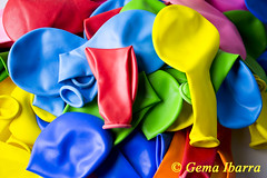 Deflated balloons (GemaIbarra1) Tags: pink blue red party orange green yellow balloon decoration backgrounds multicolored largegroupofobjects uninflated