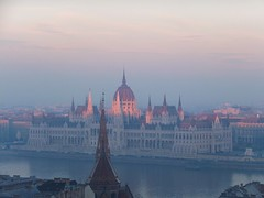Kissed by the Last Ray of Sun... (nenneck) Tags: travel sunset europe hungary dusk capital budapest parliament neogothic